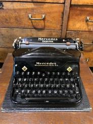 Antique Mercedes Typewriter in Original Box