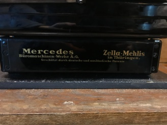 Antique Mercedes Typewriter in Original Box