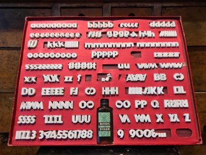 Vintage Film Board Letters
